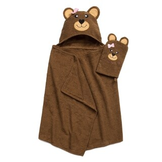 Tub Time for Tots 2-Piece Bear Hooded Bath Wrap