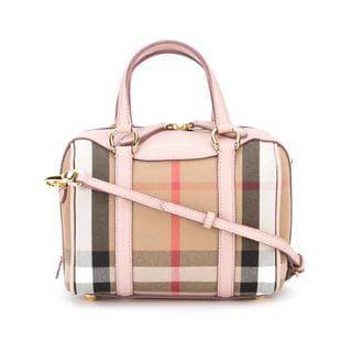 Burberry Alchester Pale Orchid Pink Cotton Small Tote Handbag