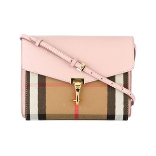 Burberry Macken House Pink Leather Crossbody Handbag
