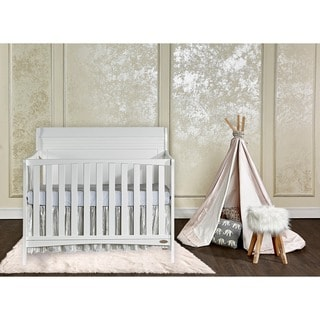 Dream On Me Bailey White 5-in-1 Convertible Crib
