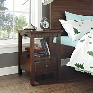 Dorel Living Auburn Dark Chestnut Nightstand
