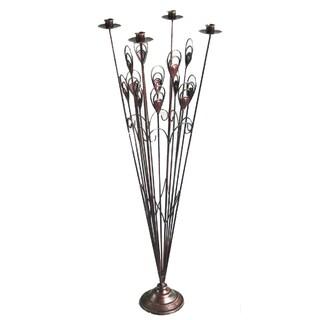 Brown Metal Floor Candle Holder