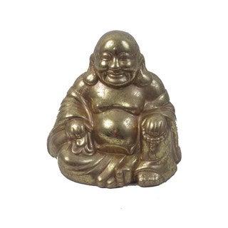 FireFly Gold-tone Ceramic Terra Cotta Buddha Sculpture