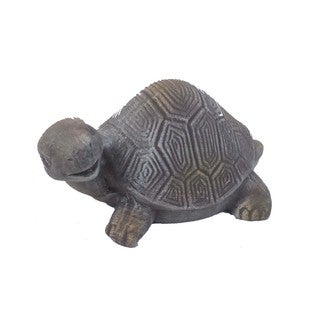 Firefly Grey Terracota Turtle Sculpture