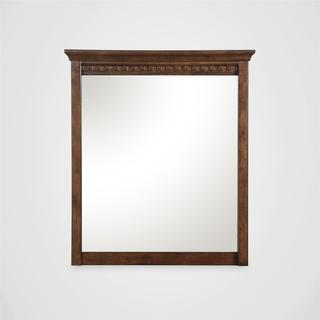 Dorel Living Auburn Dark Chestnut Dresser Mirror
