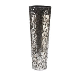 FireFly Multicolor Glass Mosaic Crackle Vase