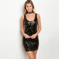 Shop the Trends Women's Sleeveless Sequins Bodycon Dress With Scoop Neckline