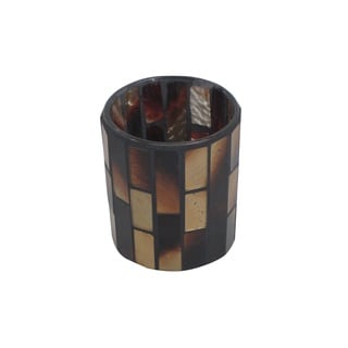 FireFly Brown Mosaic Candle Holder