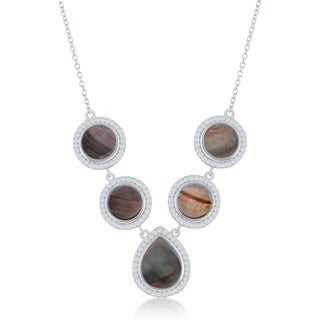 Sterling Silver Mother of Pearl Fashion Necklace