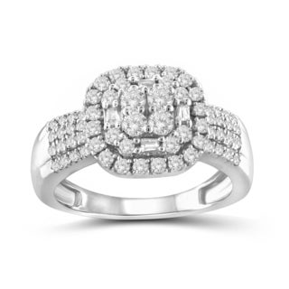 Jewelonfire 10k White or Yellow Gold 1ct TDW White Diamond Ring (I-J, I2-I3)