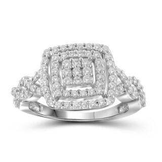 Jewelonfire 10k White or Yellow Gold 1ct TDW White Diamond Ring (I-J, I2-I3)