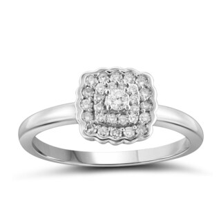 Jewelonfire 10k White or Yellow Gold 1/4ct TDW White Diamond Bridal Ring (I-J, I2-I3)