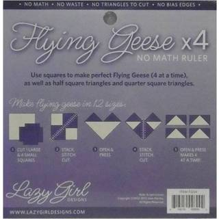 Lazy Girl Designs Flying Geese x4 Quilting Ruler