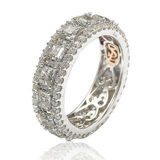 Suzy Levian Sterling Silver Cubic Zirconia White Modern Eternity Band|https://ak1.ostkcdn.com/images/products/13558742/P20236020.jpg?impolicy=medium