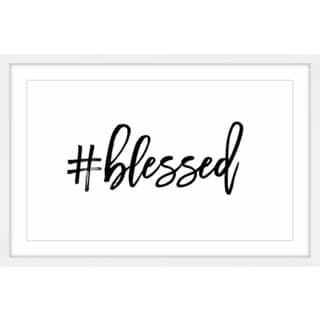 Marmont Hill - 'Blessed' by Shayna Pitch Framed Painting Print