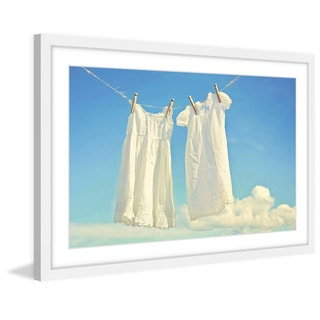 Marmont Hill - 'Hanging Whites' by Sylvia Cook Framed Painting Print