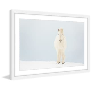 Marmont Hill - 'White Horse Comes' Framed Painting Print