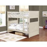 Rajanna Rustic White Twin over Twin Bunk Bed