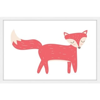 Marmont Hill - 'Red Fox' by Shayna Pitch Framed Painting Print