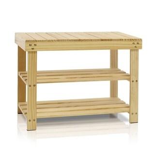Furinno FNCJ-33019 Pine Solid Wood Shoe Rack