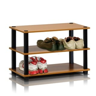 Furinno 13080 Turn-S-Tube 3-Tier Shoe Rack