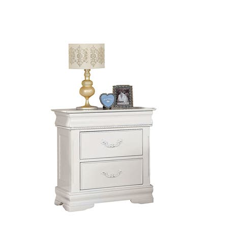 Acme Furniture White Classique 3-drawer Nightstand
