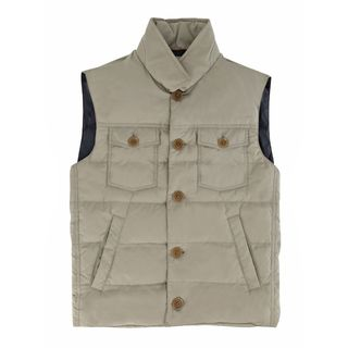 Brunello Cucinelli Beige Quilted Puffer Vest