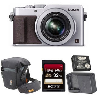 Panasonic LUMIX LX100 4K with Leica Lens (Silver) & Panasonic Battery with Charger