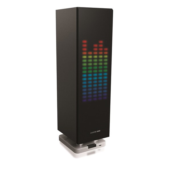 Shop Sharper Image Mini-Tower Bluetooth Speaker W/ LED
