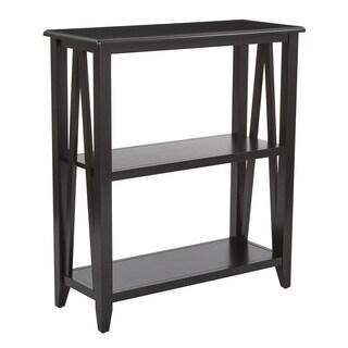 Santa Cruz Black 3-Shelf Bookcase