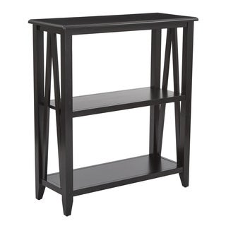Santa Cruz Black 3-Shelf Bookcase