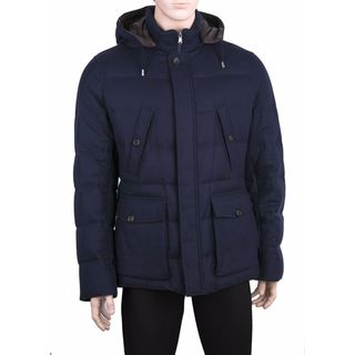 Brunello Cucinelli Men's Blue Down Puffer Coat