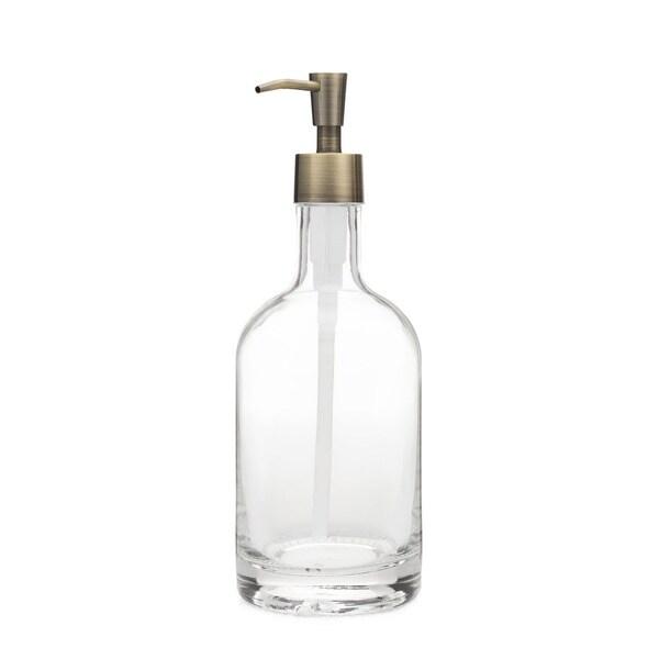 RAIL19 Classic Glass Soap Dispenser w/ Brass Pump