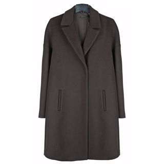 Elie Tahari Women's Louisa Brown Wool Plus Size Coat