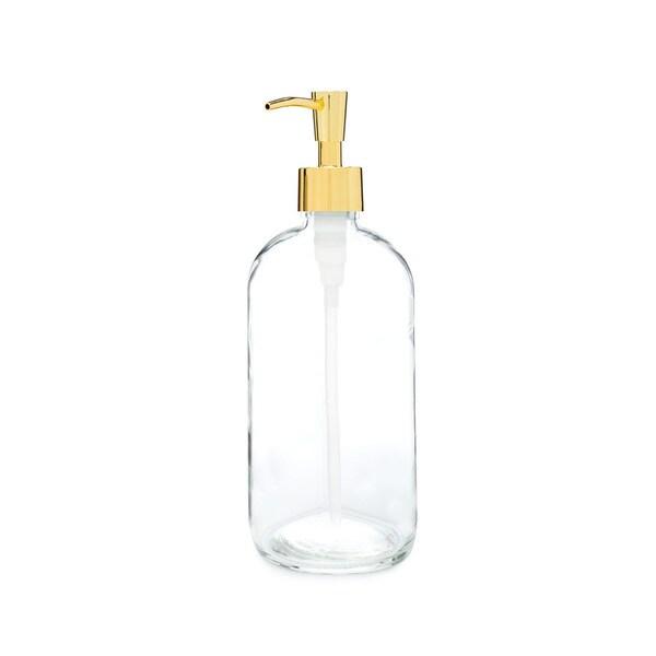 RAIL19 Market Glass Soap Dispenser w/ Gold Pump