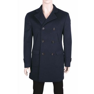 Brunello Cucinelli Blue Cashmere Coat