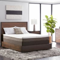 Natures Rest Summer Breeze 8-inch Full-size All Latex Mattress Set - White/Brown
