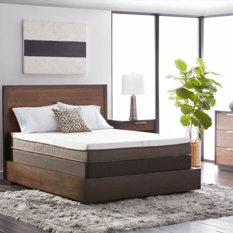 Natures Rest Summer Breeze 8-inch Twin XL-size All Latex Mattress Set - White/Brown