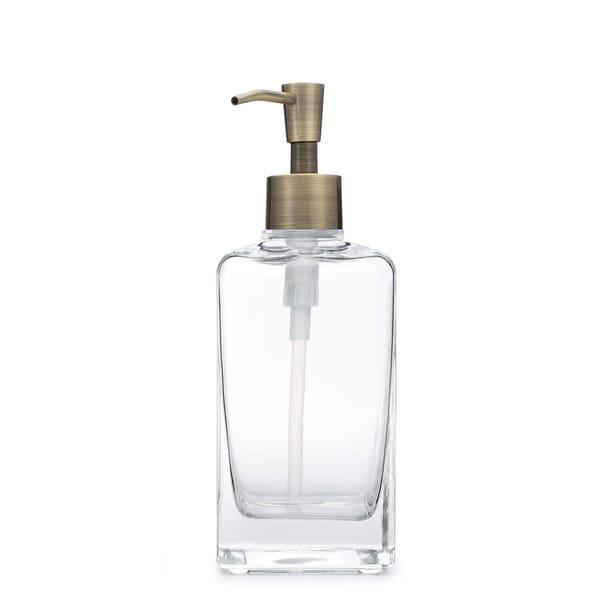RAIL19 Casa Glass Soap Dispenser w/ Brass Pump