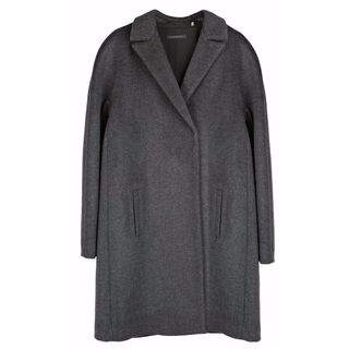 Elie Tahari Women's Louisa Charcoal Grey Wool XL Plus-size Coat