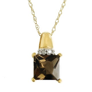 One-of-a-kind Michael Valitutti 14K Smoky Quartz and Diamond Pendant
