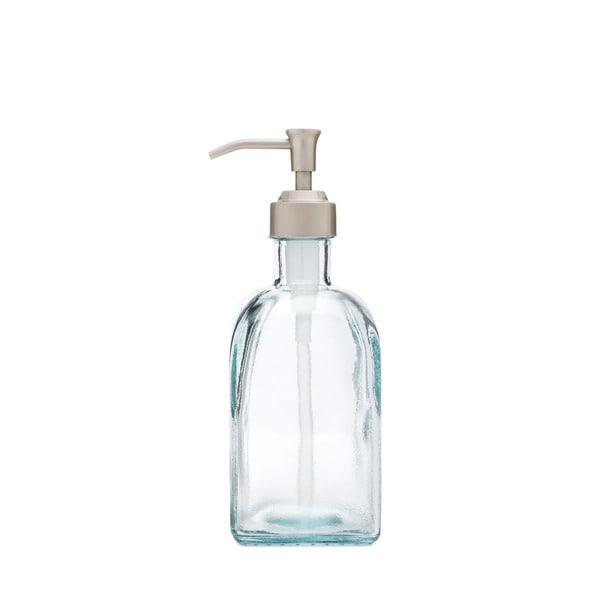 RAIL19 Bungalow Recycled Glass Soap Dispenser w/ Cottage Pump