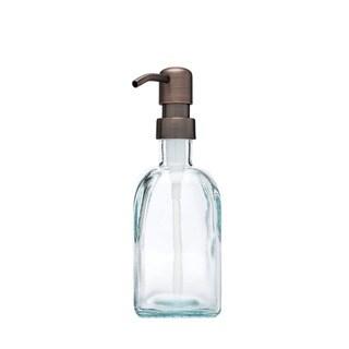 RAIL19 Bungalow Recycled Glass Soap Dispenser w/ Farmhouse Bronze Pump