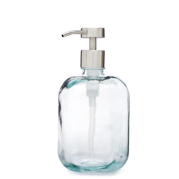 RAIL19 Cubo Recycled Glass Soap Dispenser w/ Fuente Pump