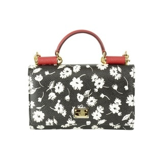 Dolce and Gabbana Floral Clutch with Shoulder Strap Handbag