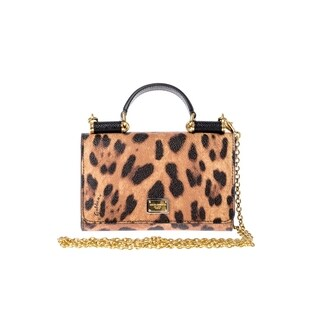 Dolce & Gabbana Leopard Clutch with Shoulder Strap