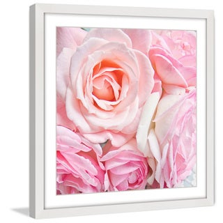 Marmont Hill - 'Pink Roses' by Sylvia Cook Framed Painting Print