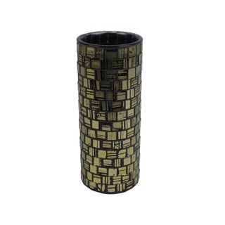 FireFly Gold and Black Mosaic Vase