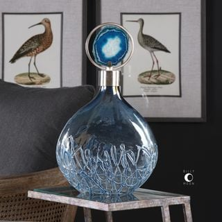 Uttermost Rae Sky Blue Vase