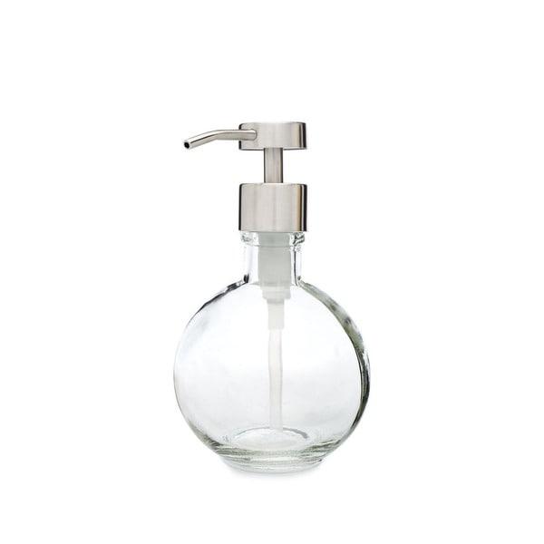 RAIL19 Moon Round Glass Soap Dispenser w/ Fuente Pump